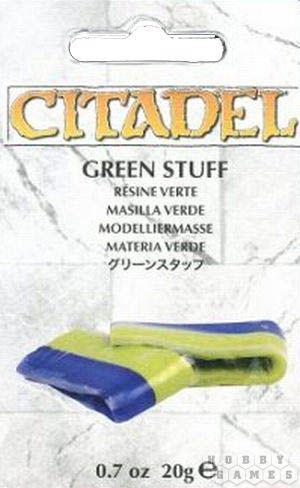 """АКСЕССУАРЫ ВАРХАММЕР: Зеленая масса для моделирования """"Citadel"""" (Green Stuff)"""" (новая версия)"""