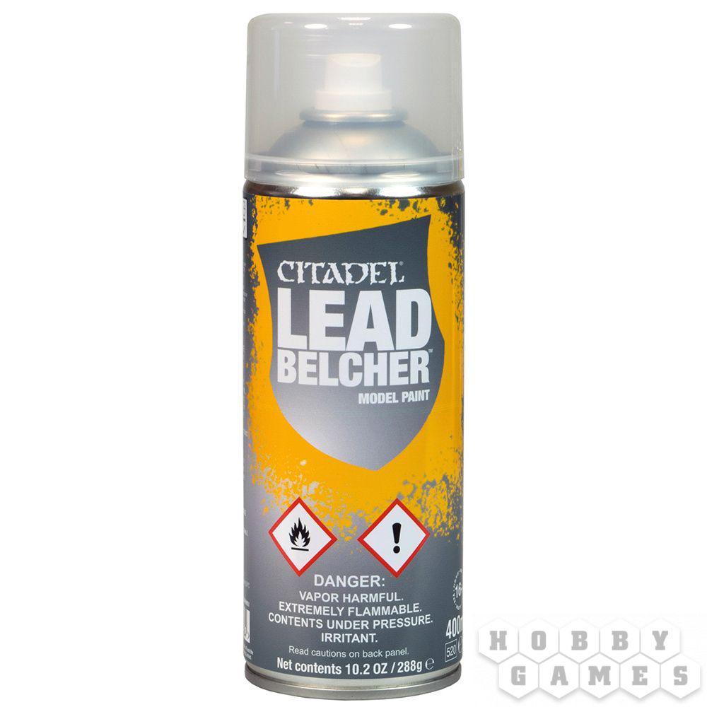 АКСЕССУАРЫ ВАРХАММЕР: Спрей-грунтовка Свинцеплюй (Leadbelcher Spray)