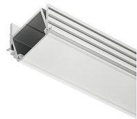 Врезной профиль для LED лент, угловой, 2500 мм (молочный)