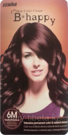 B Happy(6M)-Краска для волос-оттенок Глубокий темно-красный шатен