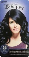 B Happy(6B)-Краска для волос-оттенок Иссиня-Черный
