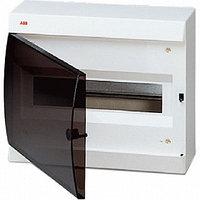 Щит распределительный настенный 12мод. белый с дымч. дв. и шинами, 295х245х115мм UNIBOX