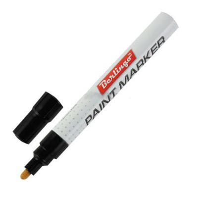Маркер-краска BERLINGO 2-4 мм, черный