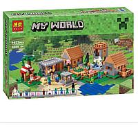 Конструктор Bela  Minecraft «деревня», фото 1