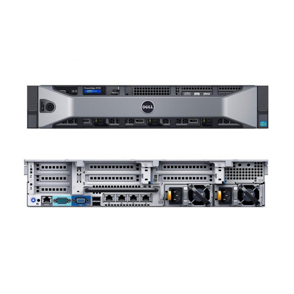 Сервер Dell R730 16SFF  2 U/1 x Intel  Xeon E5  2620v4 2,1 GHz 210-ACXU-A04