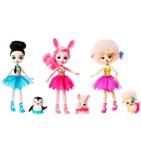 "Enchantimals Набор ""Энчантималс"" из трех кукол ""Волшебные балерины"""