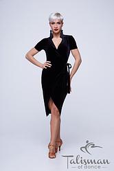 Черное Женское платье для латины ПЛ-923/1