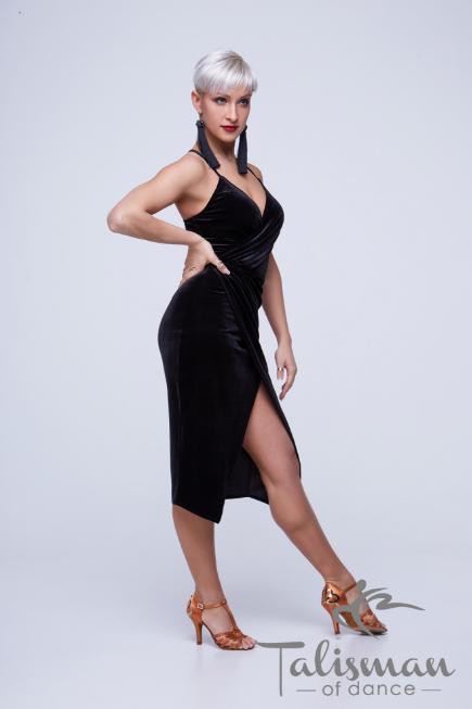 Женское черное платье ПЛ-921