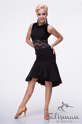 Платье женское черное для латиныПЛ-835