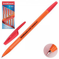 Ручка шар Erich Krause R-301красная orange корпус