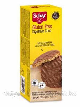 Безглютеновое Печенье в шоколаде Digestive Choc без глютена 150 гр.Schar