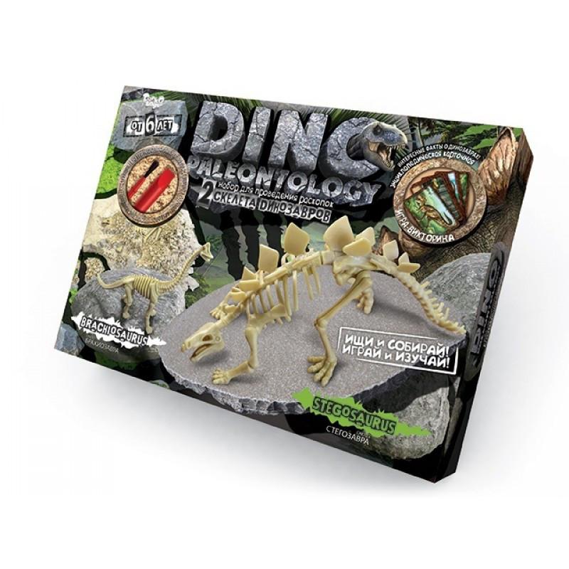 Набор для проведения раскопок DINO PALEONTOLOGY Скелеты Стегозавра - Брахиозавра