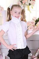 Школьная блуза для девочки с воротником-стойкой