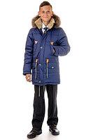 Зимняя куртка парка для мальчика с натуральным мехом