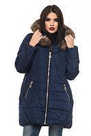 Женская зимняя куртка Барбара с натуральной опушкой песца