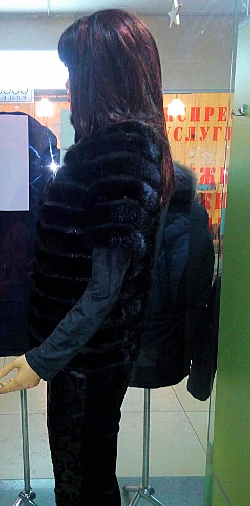 Жилетка женская из меха норки - фото 2