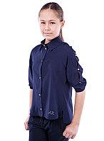 Школьная блузка Реглан синий для девочки