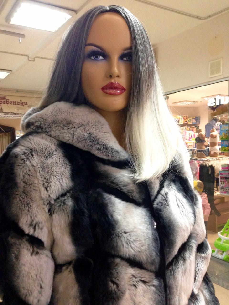Шуба женская из меха шиншилла рекс - фото 3