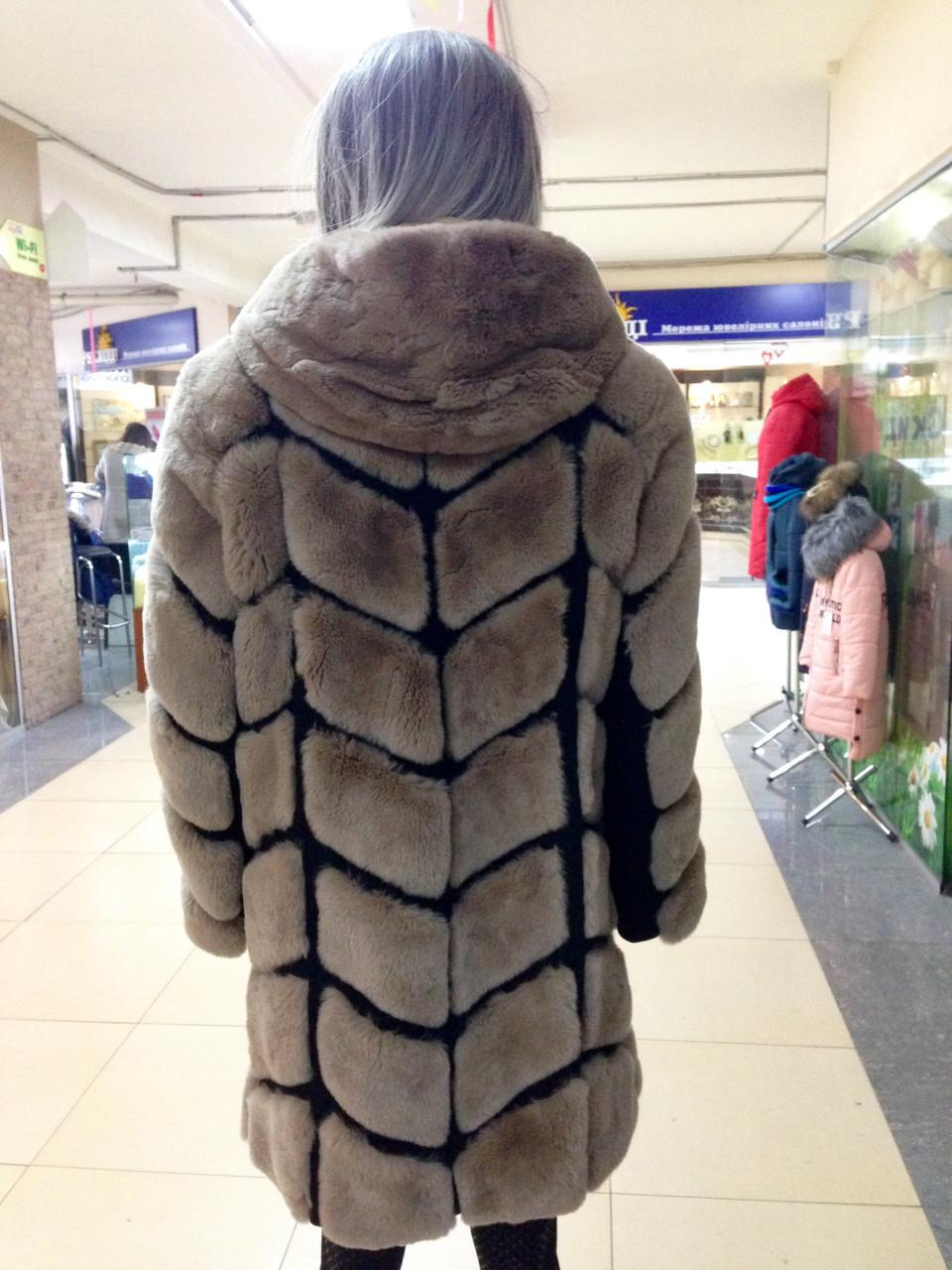 Женская шуба из бобра-бобрика рекса больших размеров - фото 3