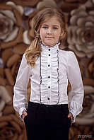 Блузка школьная для девочки 3656-2
