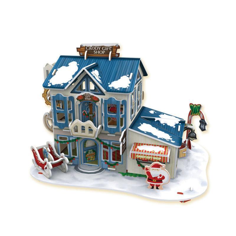 Рождественский домик 2 ( с подсветкой )