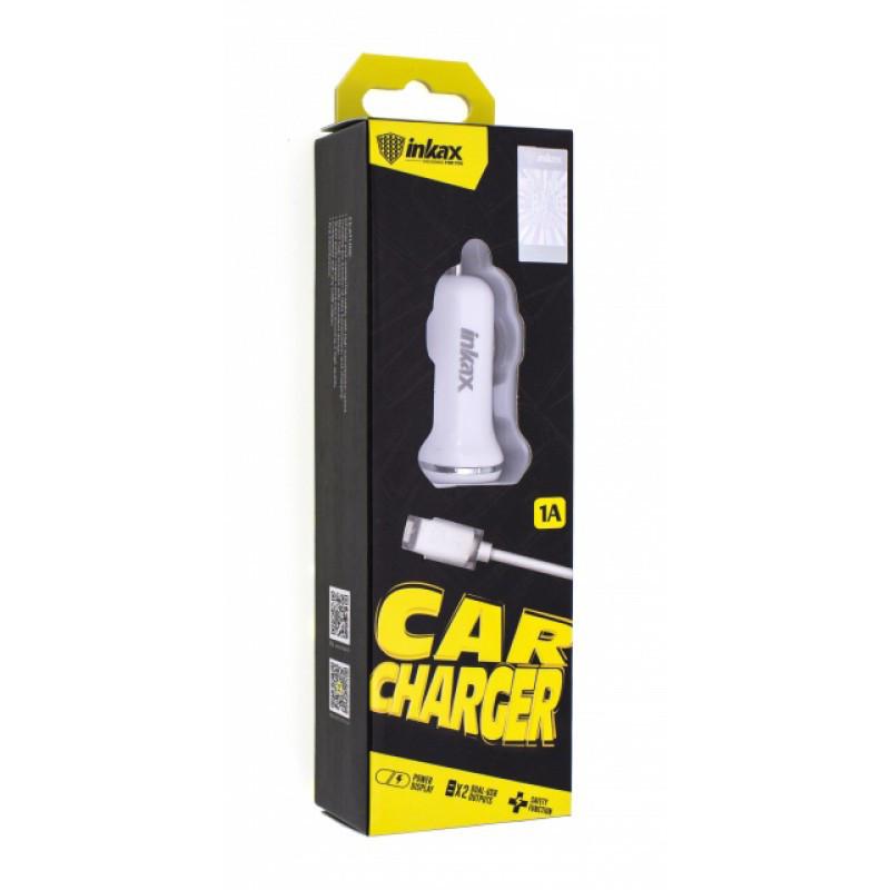 Автомобильное зарядное устройство INKAX CD-13 Lightning iPhone USB 1A