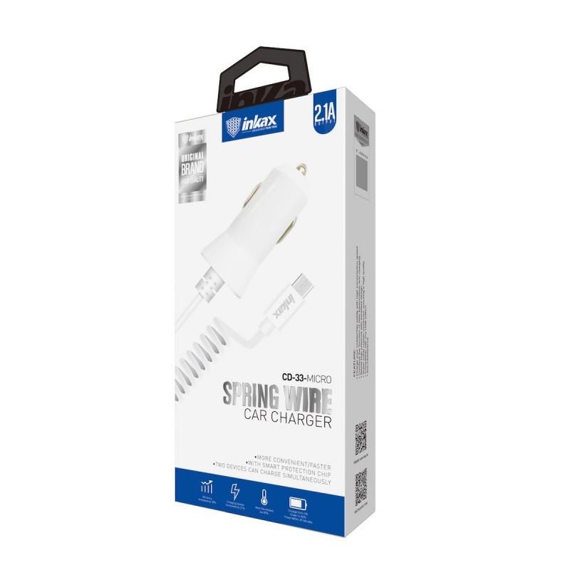 Автомобильное зарядное устройство INKAX CD-33 Micro USB 2.1A