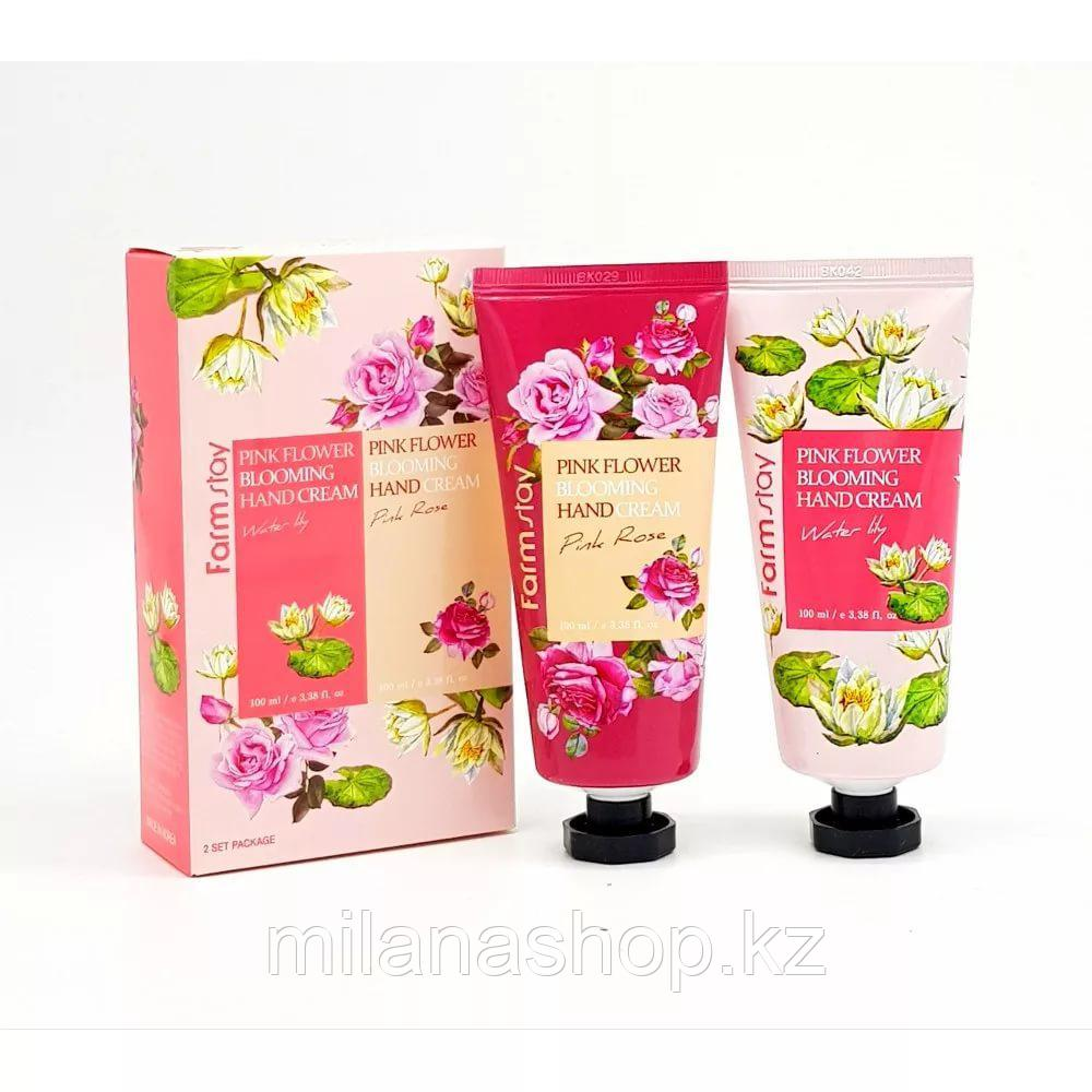 Farm Stay Pink Flower Blooming Hand Cream 100ml 2pcs - Подарочный набор с кремами для рук