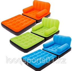 Надувное кресло диван -трансформер с велюром