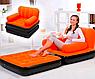 Надувное кресло диван -трансформер с велюром, фото 3