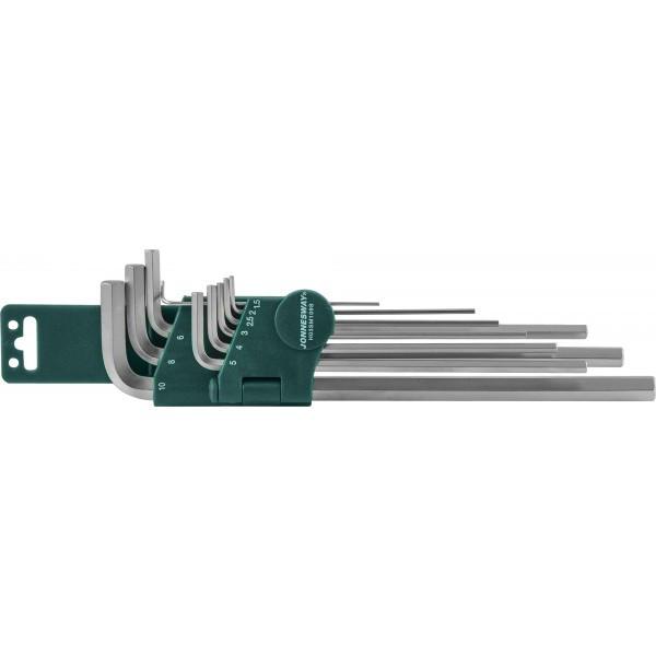H02SM109SL (H03SM109S) Комплект угловых шестиграников EXTRA LONG 1,5-10мм, 9 предметов S2 материал