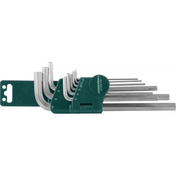 Комплект угловых шестиграников LONG 1,5-10мм, 9 предметов S2 материал H02SM109S
