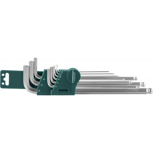 H05SM109SL (H06SM109S ) Комплект угловых шестиграников EXTRA LONG с шаром 1,5-10мм, 9 предметов S2 материал