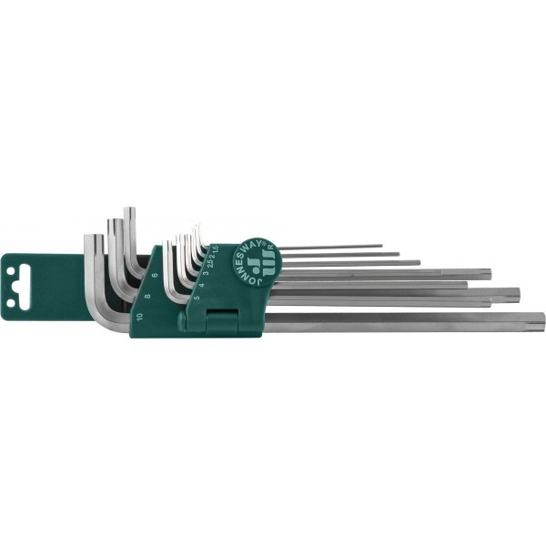 Набор ключей торцевых шестигранных удлиненных для изношенного крепежа H1.5-10, 9 предметов H22S109S