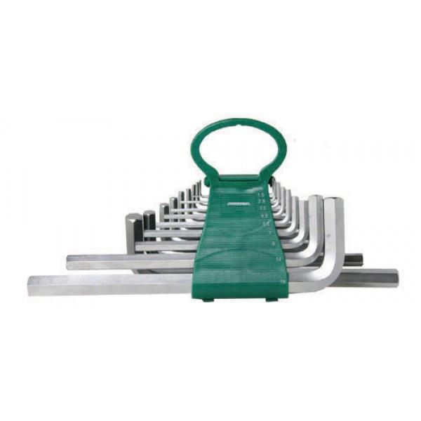 H02MH217S Набор ключей торцевых шестигранных удлиненных дюймовых, 17 предметов