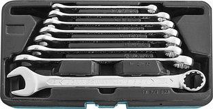 Набор ключей гаечных комбинированных с профилем SUPER TECH в кейсе, 8-19 мм, 8 предметов W84108S