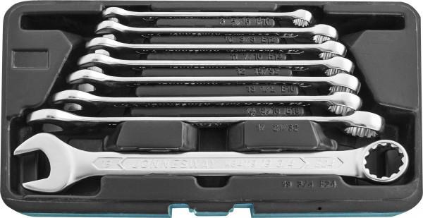 W84108S Набор ключей гаечных комбинированных с профилем SUPER TECH в кейсе, 8-19 мм, 8 предметов