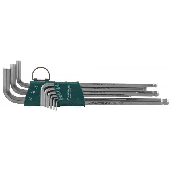 Набор ключей торцевых шестигранных удлиненных с шаром дюймовых, 9 предметов H06SA209S