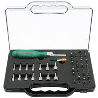 Рукоятка отверточная трещоточная в наборе с битами и насадками, 52 предмета DR0152S