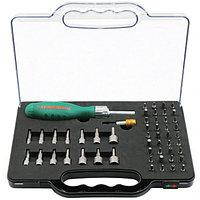DR0152S Рукоятка отверточная трещоточная в наборе с битами и насадками, 52 предмета