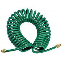 JAZ-7214J Шланг полиуретановый спиральный для пневматического инструмента 8х12 мм, 13м