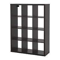 Стеллаж КАЛЛАКС черно-коричневый ИКЕА, IKEA, фото 1