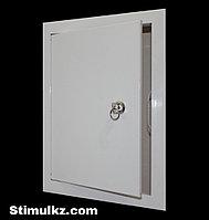 Люк-дверца ревизионная металлическая с замком 300х300, фото 1