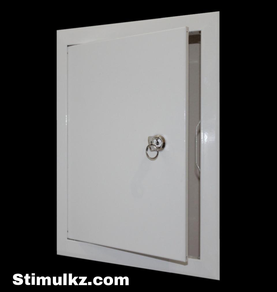 Люк-дверца ревизионная металлическая с замком 350х350