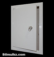 Люк-дверца ревизионная металлическая с замком 500х500