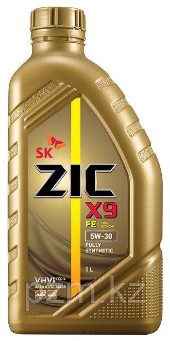 ZIC X9 FE 5w30  1 ЛИТР - синтетическое моторное масло высшего качества для бензиновых и дизельных двигателей