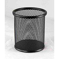 Стакан металлический DELI для пишущих принадлежностей, круглый, черный
