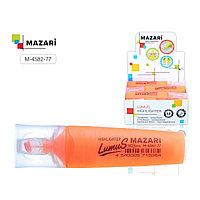 """Текстовыделитель MAZARI """"LUMUS"""", 2-5 мм, оранжевый"""