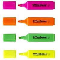 Текстовыделитель OfficeSpace 1-5 мм, розовый