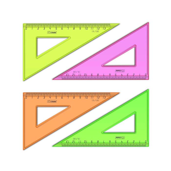 """Треугольник Стамм """"NEON Cristal"""" (30 градусов, 13 см), ассорти"""